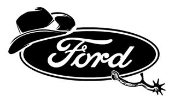Ford Cowboy Decal Sticker
