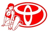 Toyota Girl v4 Decal Sticker