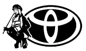 Toyota Girl v5 Decal Sticker
