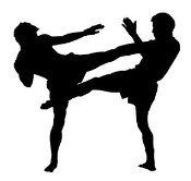 MMA Kick 1 Decal Sticker