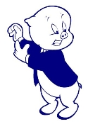 Porky Pig v2 Decal Sticker