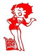 Betty Boop Out Of Gas v2 Decal Sticker