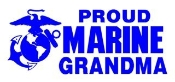 Marine Grandma Decal Sticker