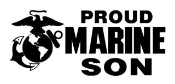 Marine Son Decal Sticker
