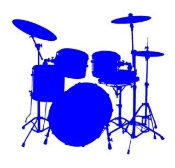 Drum Set 3 Decal Sticker