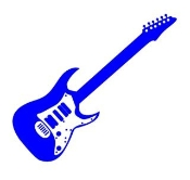 Guitar 4 Decal Sticker