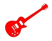 Guitar 5 Decal Sticker