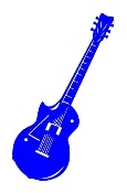 Guitar 6 Decal Sticker