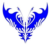 Tribal Butterfly 10 Decal Sticker