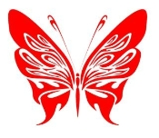 Tribal Butterfly 14 Decal Sticker