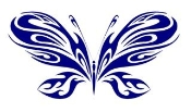 Tribal Butterfly 16 Decal Sticker