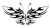 Tribal Butterfly 18 Decal Sticker