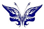 Tribal Butterfly 22 Decal Sticker