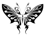 Tribal Butterfly 23 Decal Sticker