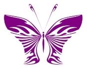 Tribal Butterfly 28 Decal Sticker