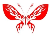 Tribal Butterfly 29 Decal Sticker