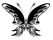 Tribal Butterfly 30 Decal Sticker