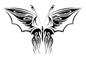 Tribal Butterfly 32 Decal Sticker