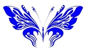 Tribal Butterfly 33 Decal Sticker
