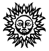 Sun with Face 2 Decal Sticker