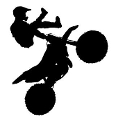 Freestyle Motocross Silhouette v1 Decal Sticker