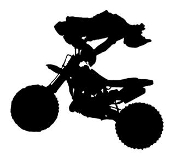 Freestyle Motocross Silhouette v5 Decal Sticker