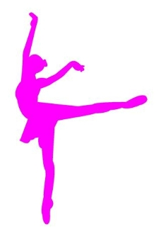 Ballet Dancer Silhouette 3 Decal Sticker