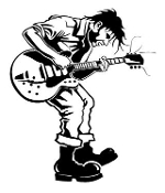 Guitarist 8 Decal Sticker