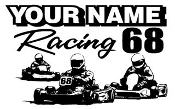 Personalized Shifter Go Kart Racing 8 Decal Sticker