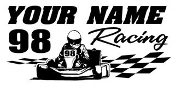 Personalized Shifter Go Kart Racing 10 Decal Sticker