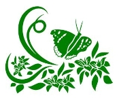 Floral Design with Butterfly v6 Decal Sticker