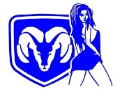 Dodge Girl 3 Decal Sticker