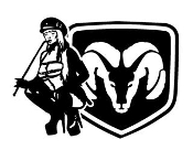 Dodge Girl 5 Decal Sticker