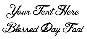 Blessed Day Font Decal Sticker