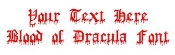 Blood of Dracula Decal Sticker