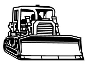 Bulldozer v2 Decal Sticker