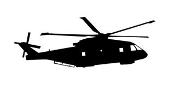 Helicopter v17 Decal Sticker
