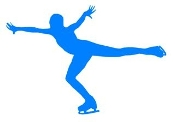 Ice Skater Silhouette 2 Decal Sticker