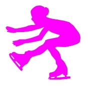 Ice Skater Silhouette 3 Decal Sticker