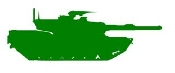 Army Tank Silhouette v2 Decal Sticker