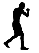 Boxing Silhouette v5 Decal Sticker