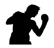 Boxing Silhouette v2 Decal Sticker
