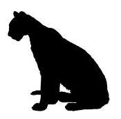 Cat Silhouette v10 Decal Sticker