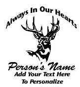 Memorial with Deer v2 Decal Sticker