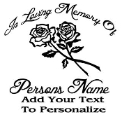 Memorial with Roses 3 Decal Sticker