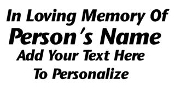 Personalized Memorial 1 Decal Sticker