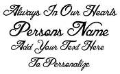 Personalized Memorial 2 Decal Sticker