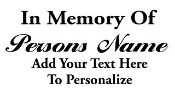 Personalized Memorial 3 Decal Sticker