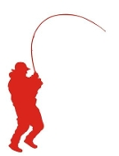 Fisherman Silhouette 2 Decal Sticker