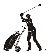 Golfer v13  Decal Sticker